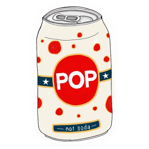 pop not soda sticker
