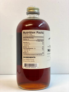 pure maple syrup Dorset farms nutrition label
