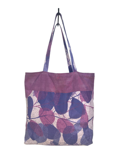 Purple Leaves Okinawa Tote - InRugCo Studio & Gift Shop