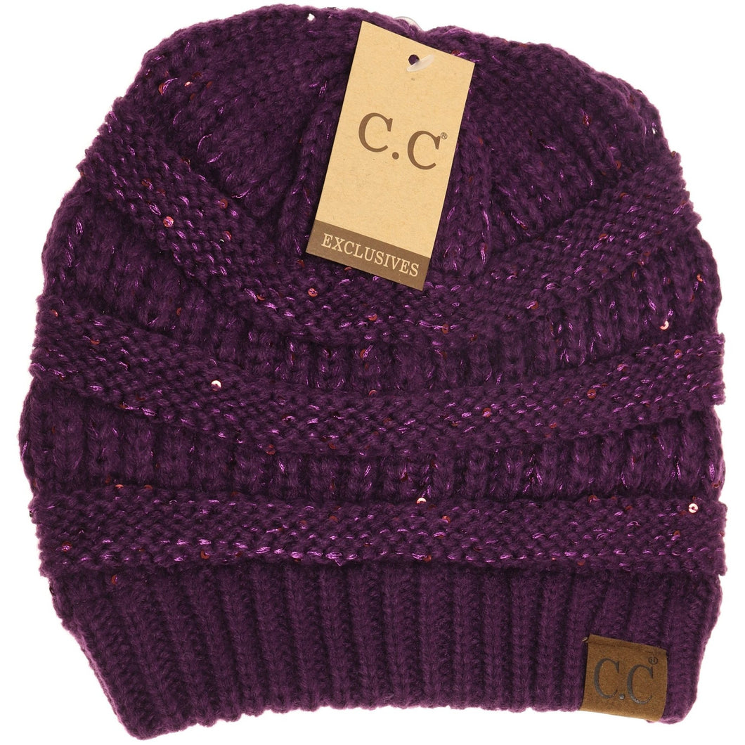 purple sequin cc hat