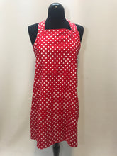 Load image into Gallery viewer, White Daisies & Red Polka-Dots Apron - InRugCo Studio & Gift Shop