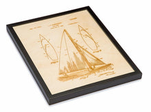 Load image into Gallery viewer, Patent Art - Sailboat | Wood Chart - InRugCo Studio & Gift Shop