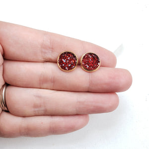 spiffy splendid merlot earrings