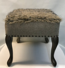 Load image into Gallery viewer, Tan Faux Fur Ottoman - InRugCo Studio & Gift Shop