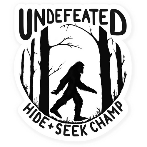 undefeated Bigfoot sticker