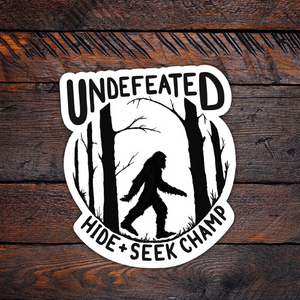 undefeated Sasquatch sticker