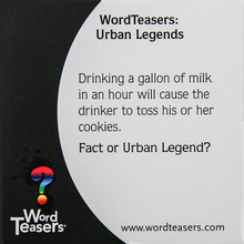 Load image into Gallery viewer, urban legend word teasers fact or urban