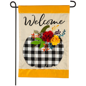 welcome fall evergreen flag