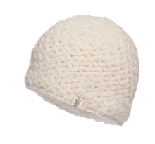 Load image into Gallery viewer, white merino wool beanie nirvana designs