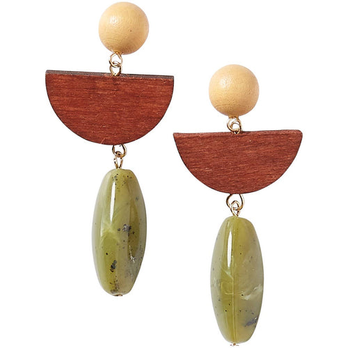 Wood Bodhi Earrings | Tickled Pink - InRugCo Studio & Gift Shop