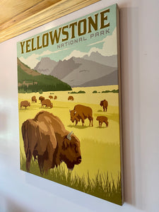 Yellowstone national park canvas wall art