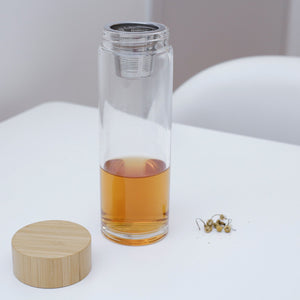 zen tea infuser kikkerland glass bottle