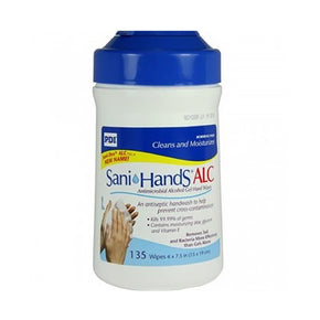 Sani-dex Hand Wipes – 6″ X 7.5″ Sheets – Tub Of 135