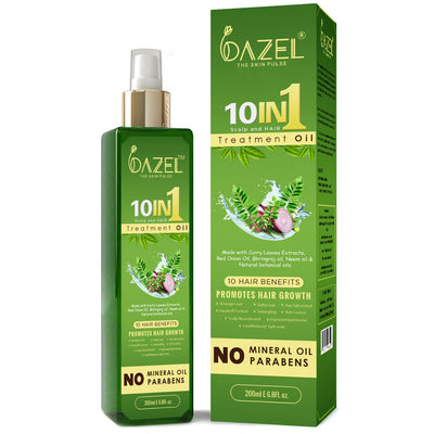 Dazel - 10 in 1 Scalp and Hair Treatement oil 200Ml