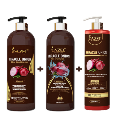 Dazel Combo (Shampoo + Hair Oil + Conditioner) - dazel-the-skin-pulse