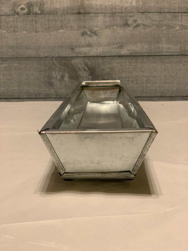 Vintage Galvanized Metal Tray (large)