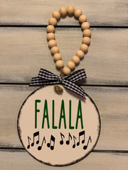 FaLaLa 4x4 Wood Ornament