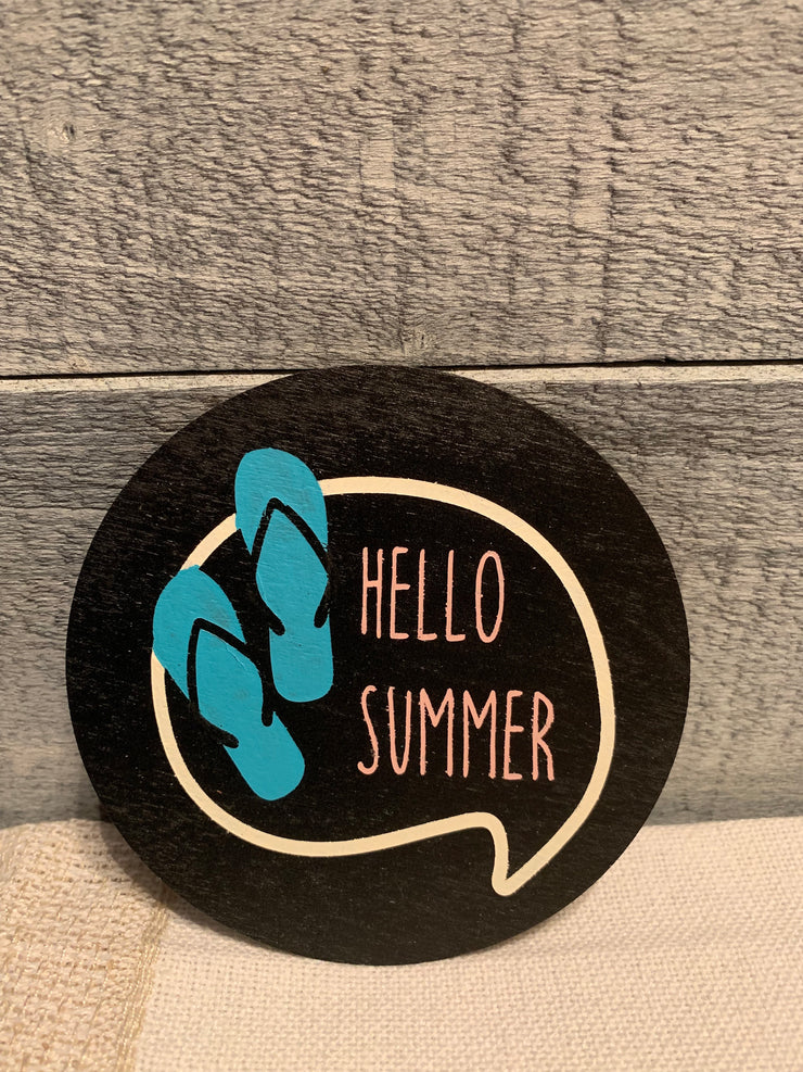 "Hello Summer is an image of the disc that goes with the ""Our Home"" sing."