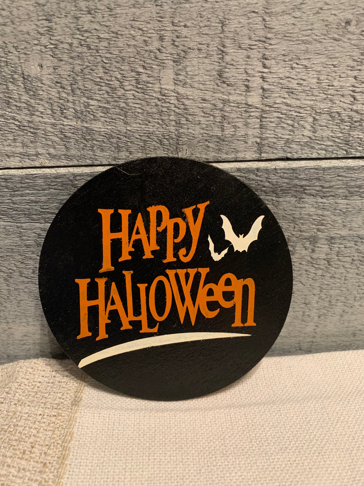 "Happy Halloween is an image of the disc that goes with the ""Our Home"" sing."