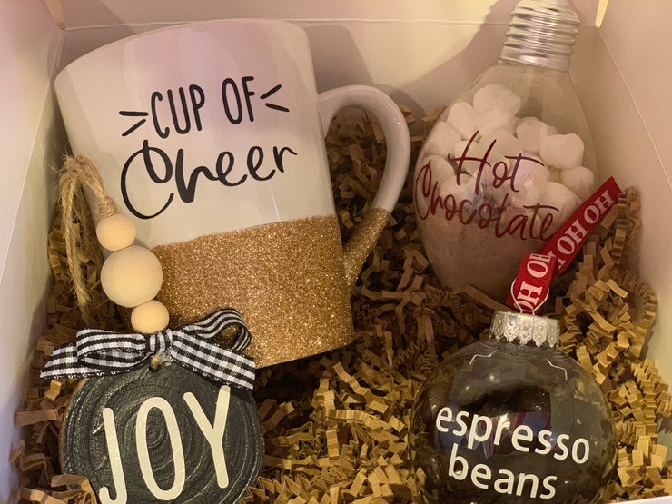This image shows a close up of the gift box products.