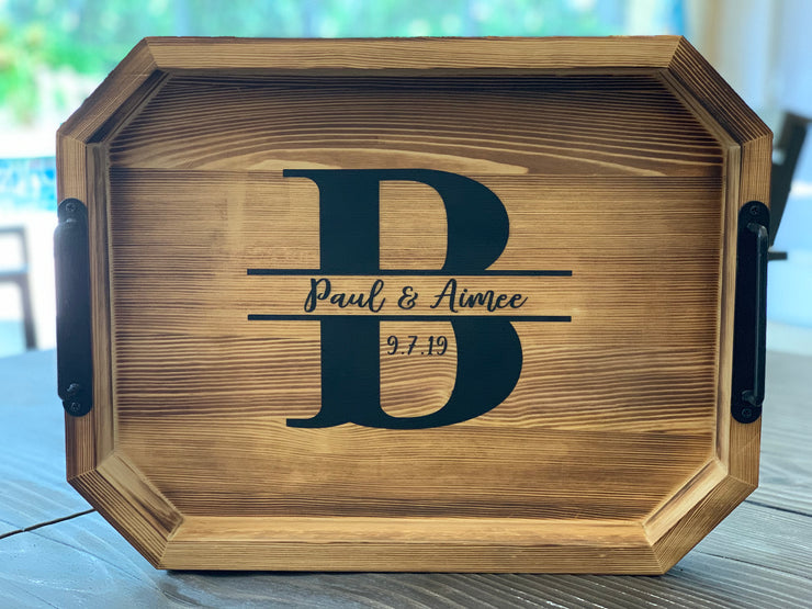 Farmhouse Wood Serving Customized Tray (Medium size)