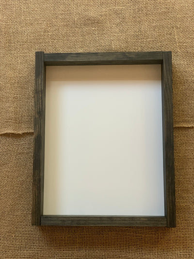 "15.25"" x 12.25"" Customer Handwritten Frame shows a picture of a blank frame.  This picture gives the customer an idea of what the frame will look like when the order is complete."