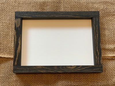 "7"" x 10"" Customer Handwritten Frame shown an image of the picture frame that will be used to make product.  Frame color is shown in Ebony."