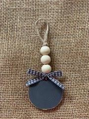 Personalized Wooden Beaded Ornament
