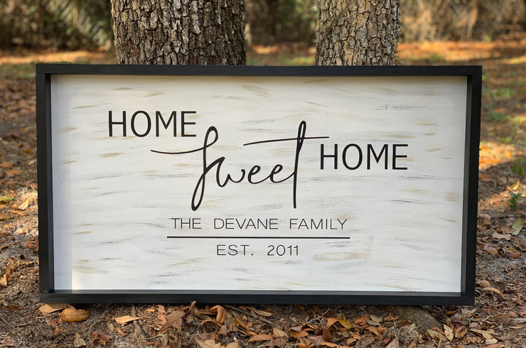 Home Sweet Home (Customized Family Name)Sign