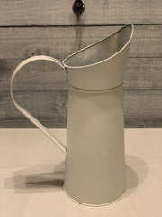 Vintage White Milk Pitcher displaying view from back