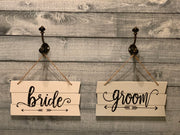 Shiplap Style Wood Bride Sign and groom sign-sold separately
