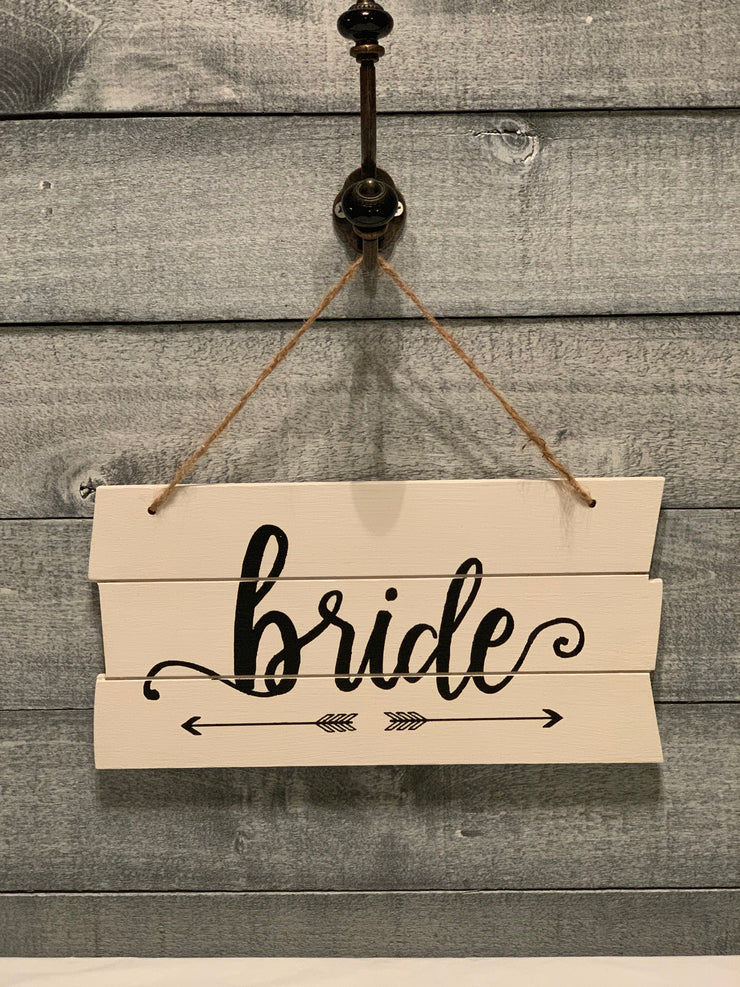 Shiplap Style Wood Bride Sign