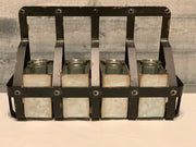 Vintage Metal Wall Basket with Galvanized Containers