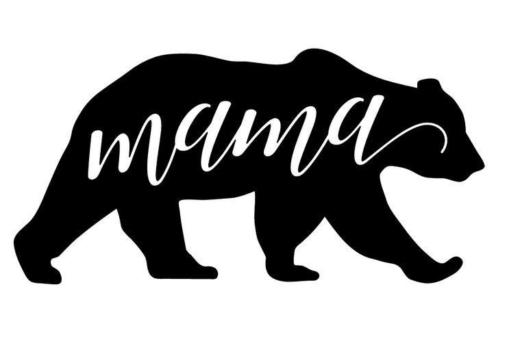 Mama Bear vinyl car decal comes in a white vinyl decal to apply to any car or window.  Instructions included.  All Sales are final.