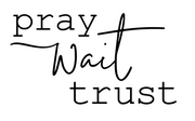 Pray, Wait, Trust Vinyl Decal Stencil can be ordered in two sizes. This is a one and done stencil. Cannot be reused. This image shows an alternate color you can paint, however we encourage you to use your imagination.