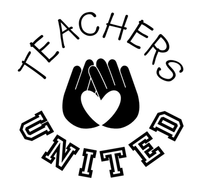 Teachers United Vinyl Car Decal shows an image in black, however, when you receive the vinyl decal it will be all white.  Instructions on how to apply will be included.