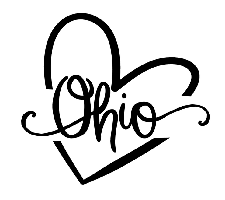 State Decal (You Choose The State) shows an image of the decal displaying Ohio in the center.