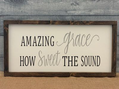 Amazing grace how sweet the sound customer hand painted wood sign