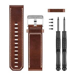 GARMIN Fenix 3 Brown Leather Watch Band - techsmartwear