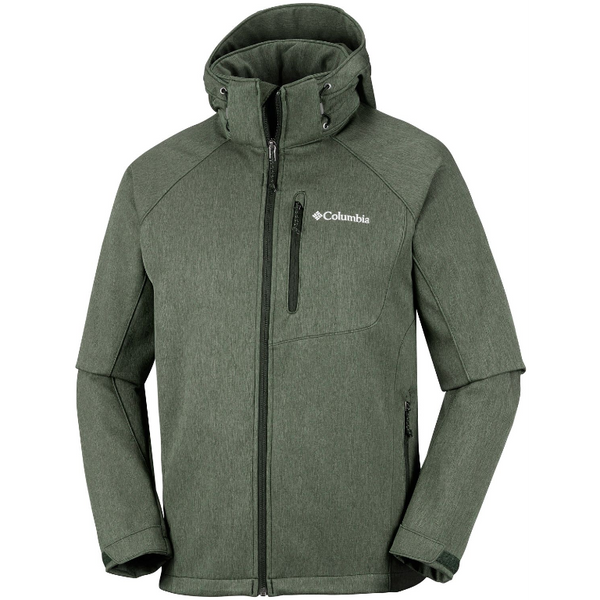 Columbia Men's Cascade Ridge II Softshell Jacket Peatmoss Heather