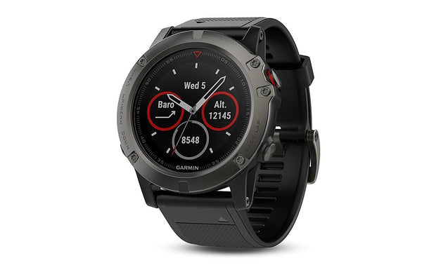 Garmin Fenix 5X Slate Gray Sapphire with Black Band - techsmartwear