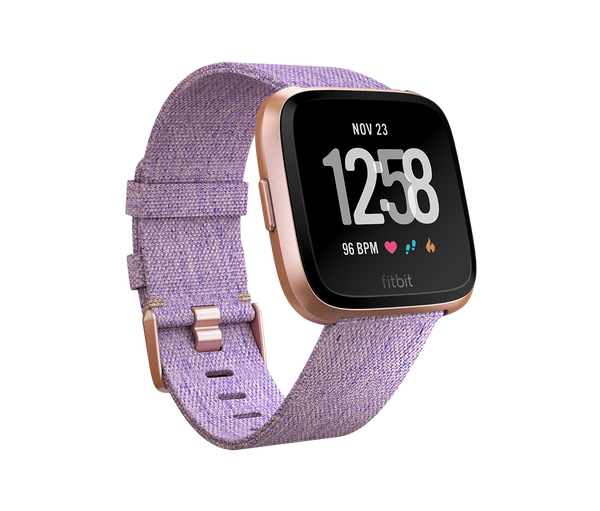 Fitbit Versa Special Edition Lavender Woven/Rose-Gold Aluminum