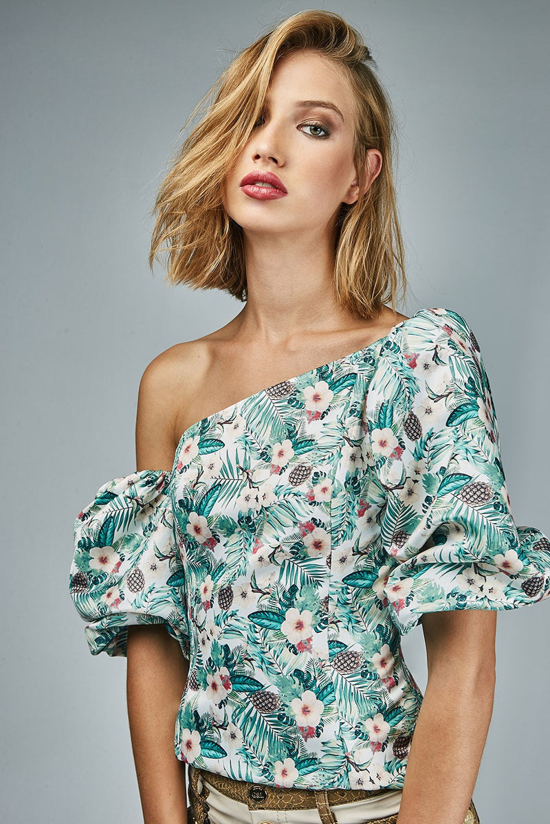 PALMS & WAVES TOP