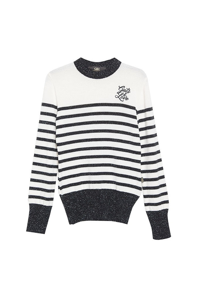 GUTS&LOVE STRIPED LUREX JERSEY