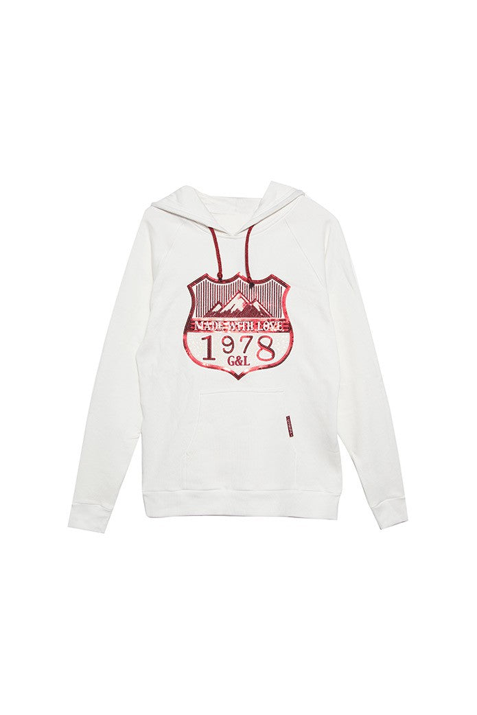 MADE WITH LOVE HOODED SWEATSHIRT