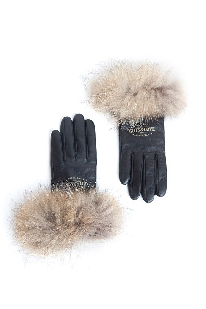 GUTS&LOVE FUR LEATHER GLOVES