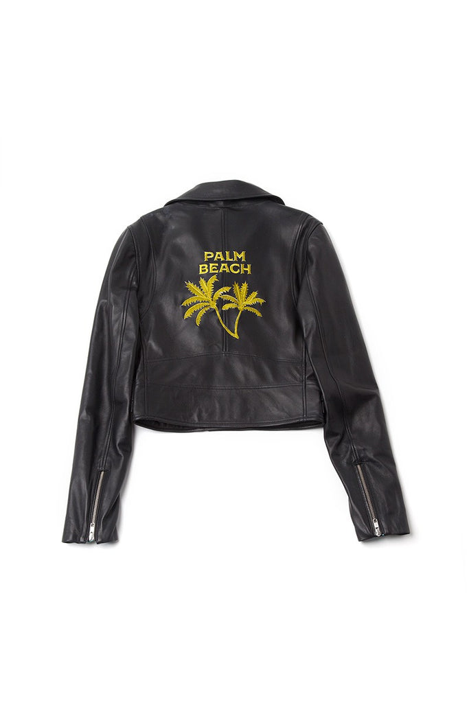 Perfect Jacket Bordada en Piel