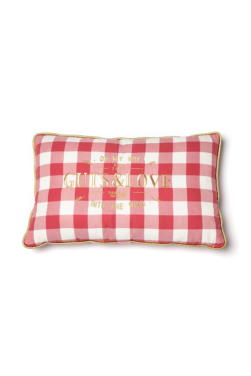 GUTS&LOVE G&L Vichy Cushion Rojo Big (65 x 42)