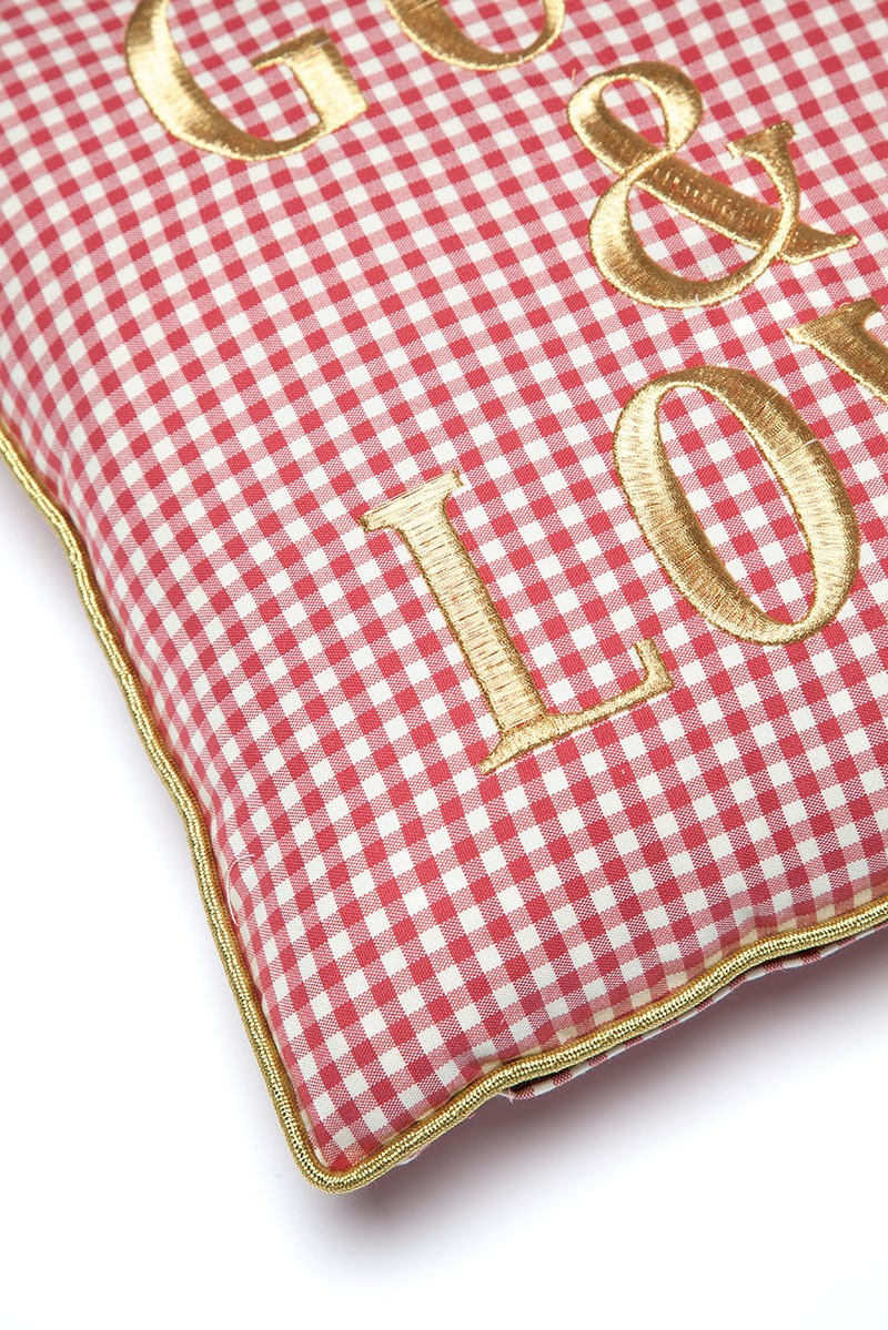 GUTS&LOVE G&L Vichy Cushion Rojo Small (45 x 45)