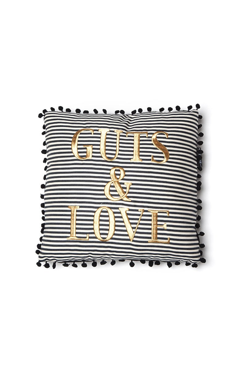GUTS&LOVE G&L Stripes Cushion Small Negro(46 x 45)